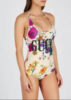 maillot de bain dos nu achat en gros de-Femmes d'été maillot de bain marque de mode maillot de bain avec des lettres Sexy Lady Beachwear costume une pièce pour les femmes dos nu maillot de bain S-XL disponible