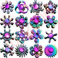 erwachsenes spielzeug metall großhandel-Regenbogen Metall Zappeln Spinner Stern Blume Schädel Drachen Flügel Hand Spinner für Autismus ADHS Kinder Erwachsene Antistres Spielzeug EDC Zappeln Spielzeug