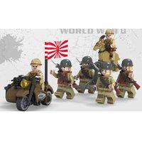 ingrosso mini figure giapponesi-WW2 La guerra sino-giapponese esercito giapponese Solider MIlitary mini giocattolo Figura Con L'arma Building Block Brick Per Boy