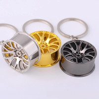 projetos bonitos do anel chave venda por atacado-Novo Design Cubo de Roda de Metal Roda De Carro Chaveiro Chaveiro Anel Titular Homens Mulheres Jóias Pingente Charme Bonito Chaveiro Presente