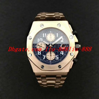 productos importados al por mayor-Reloj de lujo Top Factory V2 Nuevo producto 18K Oro rosa 26470 jf Reloj de acero inoxidable Importado Cla.3126 Cronógrafo Automático Maquinaria 26170