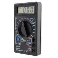 voltios de plastico al por mayor-DT-830B Plástico Auto Range Multímetro Handheld Práctico LCD Voltímetro Digital Mini Ohmmeter Volt Tester Test Lead Manual