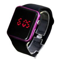 спортивные силиконовые часы для мужчин оптовых-Дети Спорт Повседневная LED Часы Дети Цифровые Часы Человек Армия Военные Силиконовые Наручные Часы Часы Hodinky Ceasuri Relogio Masculino