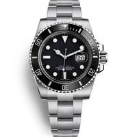 водонепроницаемые часы оптовых-роскошные мужские часы качество часы мужские автоматические механические часы 40 мм керамический безель 116610 модель водонепроницаемый 30 м наручные часы