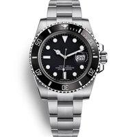 automatikwerk uhren für männer großhandel-Luxus Männer Uhren Qualität Uhren Mens Automatische mechanische Uhr 40mm Keramik Lünette 116610 modell Wasserdichte 30 Mt armbanduhr