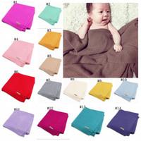 Wholesale soft beds for babies online - Baby Blanket Knitted Newborn Swaddle Wrap Blankets Super Soft Toddler Infant Bedding Quilt For Bed Sofa Basket Stroller Blankets MMA1277