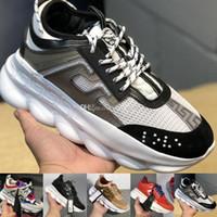 hafif hafif ayakkabılar toptan satış-Sıcak Satış Zincir Reaksiyon Lüks Tasarımcı Sneakers Erkek Zincir bağlantılı Eğitmenler Hafif Bayan Açık Koşucu Severler Rahat Ayakkabılar