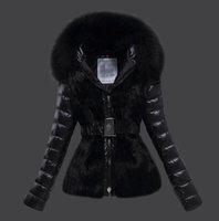 weißer wintermantel für damen großhandel-Marken Frauen Winter Fuchspelz 95% Weiße Ente Daunenjacke Designer Lady Reißverschluss Kurze Kapuze Winter Oberbekleidung Warmer Mantel