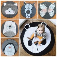 Wholesale baby floor games for sale - Group buy 15 Styles Baby Creeping Mats Fox Deer Unicorn Lion Swan Animals Play Game Mat Decorative Crawling Blanket Kids Room Floor Carpets DBC DH0749