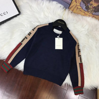 Wholesale knitted baby boys clothes for sale - Group buy Hot Sale Boy Sweater Autumn Brand Wool Knitted Pullover Cardigan Baby Girls Children dresses Clothes Kids Infant Top