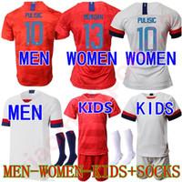 a4eca6602 USA Kids kits 2019 2020 PULISIC MORGAN Soccer Jerseys men boys youth 19 20 DEMPSEY  BRADLEY ALTIDORE America child Football jerseys