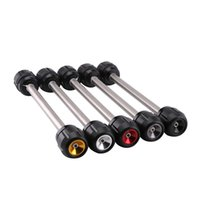 Wholesale collision accessories resale online - CNC aluminum Motorcycle Accessories rear axle anti collision slider fall protection For CB650F CBR650F