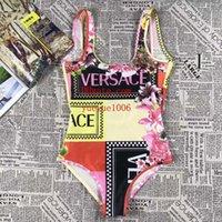 monokini drucken großhandel-Badeanzug Stück Badeanzug Mode Print Female Bademode Monokini Frauen Bodysuit Maillot Beach Wear Schwimmen G-g4