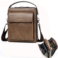 Wholesale business briefcase hard for men for sale - Group buy men PU briefcase Waterproof Small Business Bag Male Vintage Men s High Quality Bag For Mens laptop messenger bagmaletin