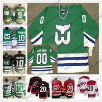 Customize Hartford Whalers 2019 Green Vintage Jersey Hurricanes men women  youth kid White Red Ron Francis Gordie Howe Wesley Brind Amour 69da8c666