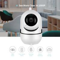 ağ ip güvenlik kamera hd toptan satış-Otomatik takip ağı WIFI HD P2P YCC365 Bulut IP Kamera ev Güvenlik Gözetleme Bebek monitörü Akıllı Kamera