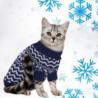 orta boy kostümler toptan satış-Pet Kedi Köpek Kazak Kış Orta Küçük Köpekler Için Balıkçı Yaka Balıkçı Yaka Triko Chihuahua Giyim Köpek Kedi Kostüm