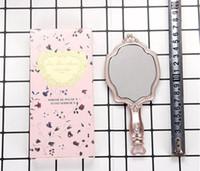 cosméticos compactos vintage al por mayor-LADUREE Les Merveilleuses HAND MIRROR N cosmetics Espejo de maquillaje Soporte de plástico compacto Vintage maquillaje espejo