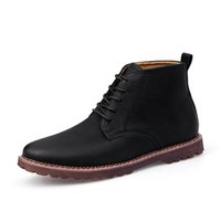 Wholesale black ankle boots for men for sale - Group buy Mens Boots Retro Leather Ankle Boots for Men New Man Shoes Ankle Boot Men Design Fashion Shoes