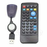 Wholesale laptop center resale online - 1pcs New Wireless USB Laptop PC Keyboard Mouse Remote Control Media Center Controller L060 hot