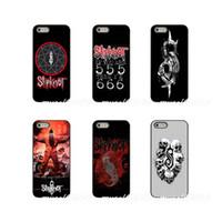 elma 4'lü telefon kutuları toptan satış-Slipknot Amerikan ağır metal grubu Posteri Sert Telefon Kılıfı Kapak Apple Için iPhone X XR XS MAX 4 4 S 5 5 S 5C SE 6 6 S 7 8 Artı ipod touch 4 5 6