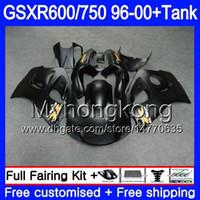 mattschwarz verkleidungen gsxr großhandel-Körper + Tank für SUZUKI Mattschwarz voll SRAD GSXR 750 600 GSXR600 96 97 98 99 00 291HM.8 GSXR-600 GSXR750 1996 1997 1998 1999 Verkleidungen