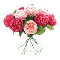 gül gecesi toptan satış-Yapay Gece Güller 6 Renkler Ev Düğün Dekoratif Güller Ipek Kumaş Plastik Sahte Çiçekler Mükemmel Parti Malzemeleri