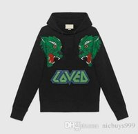 amo animais venda por atacado-18SS algodão casuais moda mens designer de outono de luxo AMEI carta hoodies lobo animal print moleton com capuz