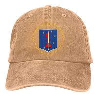 b890431ffce2f9 2019 New Custom Baseball Caps USMC 1st Marine Special Operations Mens  Cotton Adjustable Washed Twill Baseball Cap Hat