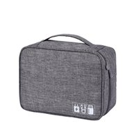 carregador do saco usb venda por atacado-Carregador de fone de ouvido Digital Cosmetic Pouch USB Cable Organizador Multipurpose Storage Bag Portable Travel