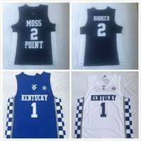 Wholesale kentucky jersey for sale - Group buy Stitched Men Kentucky Wildcats Devin Booker Jersey Moss Point High School basketball jersey