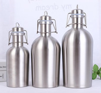 32oz Stainless Steel Beer Barrel Single layer Outdoor Wine Bottle Large Capacity Portable Water Cup A03