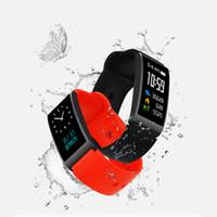 bilek spor band izle seyretme toptan satış-X3 Akıllı Bilezik Bilek İzle Renk Dokunmatik Kan Basıncı Spor Spor Nabız Bileklik Smartband Adımsayar Bant