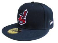 pop-cap großhandel-Gutes Design Online-Shopping Cleveland Indianses ausgestattet Hüte Snapback Cap Männer Frauen Basketball Hip Pop