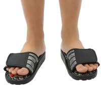 zapatillas de masaje caliente al por mayor-Venta caliente-Pie Zapatillas de masaje Acupuntura Terapia Masajeador Zapatos para piernas Acupuntura Activación Reflexología Cuidado de los pies masajeador Sandalia