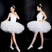erwachsene schwan kostüm großhandel-Neue Professionelle Gymnastik Ballett Tutu Kleid Swan Lake Erwachsene Prom Party Kostüm Sling Weiß Ballettkleid Tutu Frau Dancewear
