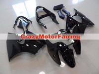zx6r personalizado al por mayor-Nuevos moldes de inyección de motocicletas ABS carenados aptos para kawasaki Ninja ZX6R 636 ZX6R 2000 2001 2002 00 01 02 conjunto de carrocería negro brillante personalizado
