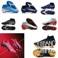 Wholesale white lace gift bags for sale - Group buy GIFT BAG th anniversary Soccer Cleats Mercurial Superfly VI CR7 SuperflyX Elite AC Soccer Shoes High Ankle Football Boots