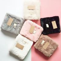 lenço de peles venda por atacado-Inverno Lenços De Pelúcia Austrália Cachecol Mulheres Meninas de Pele Macia Fuzzy Neckerchief UG Retângulo Lenços Quentes Neckerchieves DHL grátis