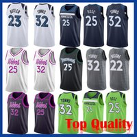 29c1ad42aba Minnesota Derrick 25 Rose jersey Timberwolve Andrew 22 Wiggins Jimmy 23  Butler Karl-Anthony 32 Towns basketball jersey