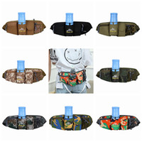 Wholesale multi functional outdoor waist bag resale online - Fashion new multi functional running waistband outdoor sports kettle waistband Hot selling camouflage mobile phone waist bag ZZA932