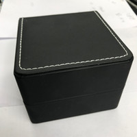 threaded watches 2021 - Watch Boxes Classic black leather with black appearance, white sewing thread inside and out.