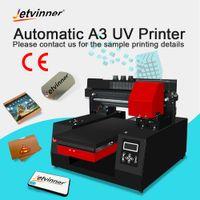 3d prägen großhandel-Jetvinner A3 Größe UV Printe Tintenstrahldrucker DIY Druckmaschine Für Zylinder 3d Relief Telefon Fall Metall Holz PVC Acryl TPU