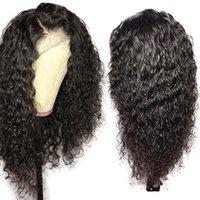 brazillian bakire yapışkan olmayan tam dantel peruk toptan satış-Brazillian Kıvırcık Tam Dantel Peruk Bebek Saç Ile Lacefront Peruk Tutkalsız Bakire Kıvırcık Tam Dantel İnsan Saç Peruk Siyah Kadınlar Için