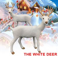 Wholesale shopping window display for sale - Group buy SOLEDI Standing Christmas White Reindeer Plush Plastic Simulated Display Window Toy Kids Office Size Wedding Decor Shop