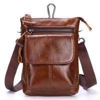 Wholesale designer fanny pack mens resale online - Genuine Leather Waist Hip Bags Packs Multifunction Mens Fanny Pack Belt Bag Phone Pouch Travel Waist Pack Colors