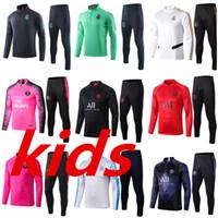 eşofman gerçek toptan satış-Paris Çocuk Futbol Eşofman Takımı Real Madrid Enfant 2020 2019 Frances Eğitim Suit Marsilya eşofmanlar om survetement çocuk Futbol