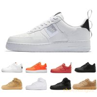 meilleurs prix bas chaussures achat en gros de-best 2019 new Utility Rouge Noir Blanc Casual Chaussures Noir Blanc Just Orange Wheat Femmes Hommes High Low Cut Trainers Sneakers de sport bon prix