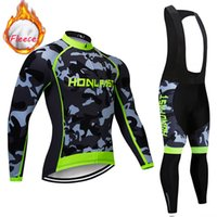 Wholesale bike jerseys resale online - Pro Winter Thermal Fleece Cycling Jerseys Set Bike Clothing Maillot Ropa Ciclismo Invierno Mountain Bicycle Clothes Camouflage Suit