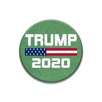 plástico broche venda por atacado-Trump Brooches American USA Election Plastic Round Pins Decoration Trump 2020 Keep America Great Brooches Armband Badge LJJA3836